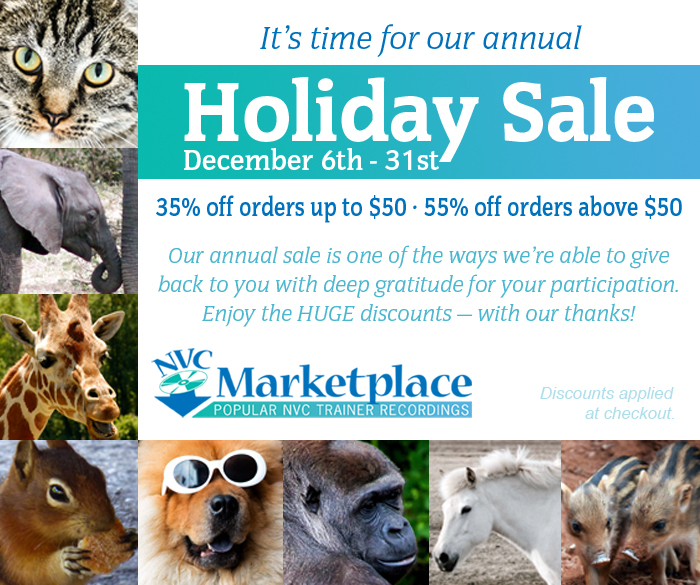 It's time for our annual Holiday Sale December 6th – 31st. 35% off orders up to $50. 55% off orders above $50. Our annual sale is one of the ways we're able to give back to you with deep gratitude for your participation. Enjoy the HUGE discounts — with our thanks! Discounts applied at checkout. NVC Marketplace. Popular NVC Trainer Recordings.